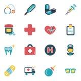 Insieme delle icone mediche Immagini Stock Libere da Diritti