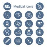Insieme delle icone mediche Fotografie Stock