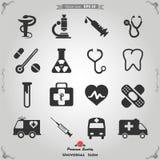Insieme delle icone mediche Fotografie Stock Libere da Diritti