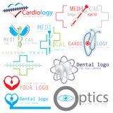Insieme delle icone mediche del logos Fotografia Stock Libera da Diritti