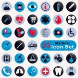 Insieme delle icone mediche rotonde Immagini Stock Libere da Diritti