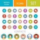 Insieme delle icone nello stile della progettazione materiale Fotografia Stock Libera da Diritti