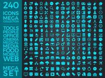 Insieme delle icone, pacchetto universale di qualità, grande progettazione di vettore della raccolta dell'icona Fotografia Stock Libera da Diritti