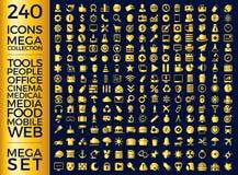 Insieme delle icone, pacchetto universale di qualità, grande progettazione di vettore della raccolta dell'icona Fotografia Stock