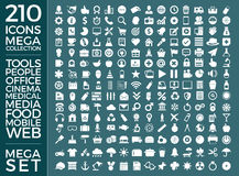 Insieme delle icone, pacchetto universale di qualità, grande progettazione di vettore della raccolta dell'icona Immagini Stock Libere da Diritti