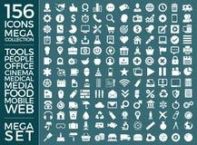 Insieme delle icone, pacchetto universale di qualità, grande progettazione di vettore della raccolta dell'icona Immagine Stock Libera da Diritti