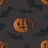 Insieme delle icone per Halloween Fotografia Stock