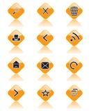 Insieme delle icone per i luoghi, i browser ed altri Immagini Stock