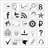 Insieme delle icone per il sito Fotografia Stock Libera da Diritti