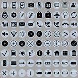 Insieme delle icone per il telefono Fotografia Stock
