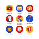 Insieme delle icone per la società di Servizi Giuridici illustrazione di stock