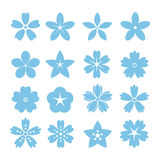 Insieme delle icone piane del fiore dell'icona royalty illustrazione gratis