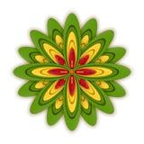 Insieme delle icone piane del fiore dell'icona in siluetta isolata su bianco Retro progettazione sveglia nei colori luminosi per  illustrazione vettoriale