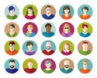 Insieme delle icone piane della gente Fotografia Stock Libera da Diritti