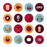 Insieme delle icone piane di concetto di progetto di vettore Immagine Stock