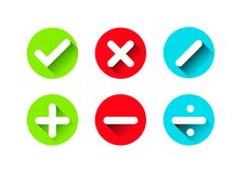 Insieme delle icone piane di progettazione per l'affare illustrazione di stock