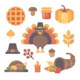 Insieme delle icone piane di ringraziamento su fondo bianco royalty illustrazione gratis