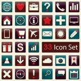 Insieme delle icone piane per il cellulare app ed il web Fotografia Stock