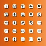 Insieme delle icone piane per il manifesto di yoga, sito di yoga Icone di yoga di vettore Immagine Stock Libera da Diritti