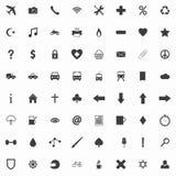 Insieme delle icone piane pulite Fotografia Stock Libera da Diritti