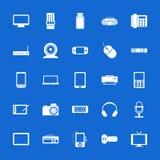 Insieme delle icone piane. Tecnologia e comunicazioni. illustrazione vettoriale