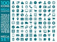 Insieme delle icone, progettazione di vettore della raccolta dell'icona di qualità Fotografie Stock