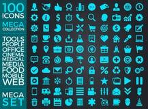 Insieme delle icone, progettazione di vettore della raccolta dell'icona di qualità Immagine Stock