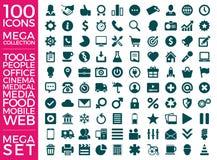 Insieme delle icone, progettazione di vettore della raccolta dell'icona di qualità Fotografia Stock
