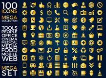 Insieme delle icone, progettazione di vettore della raccolta dell'icona di qualità Fotografie Stock Libere da Diritti
