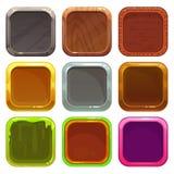 Insieme delle icone quadrate di app Immagine Stock Libera da Diritti