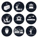 Insieme delle icone rotonde del carico illustrazione vettoriale
