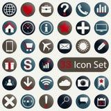 Insieme delle icone rotonde per il cellulare app ed il web Fotografia Stock Libera da Diritti