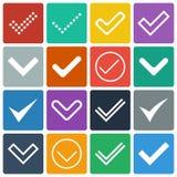Insieme delle icone, segni di spunta, segni di spunta royalty illustrazione gratis