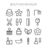 Insieme delle icone semplici per bellezza, stazione termale, saloni, web illustrazione vettoriale