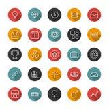 Insieme delle icone sottili piane Linee di stile Raccolta di vettore Immagine Stock Libera da Diritti