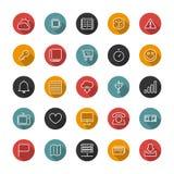 Insieme delle icone sottili piane Linee di stile Raccolta di vettore Fotografia Stock Libera da Diritti