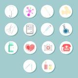 Insieme delle icone su un tema medico Fotografia Stock