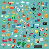Insieme delle icone universali Fotografia Stock