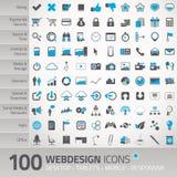 Insieme delle icone universali per webdesign Fotografia Stock