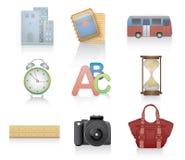 Insieme delle icone varie Fotografia Stock Libera da Diritti