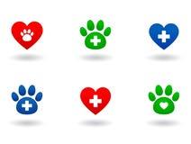 Insieme delle icone veterinarie Fotografia Stock Libera da Diritti