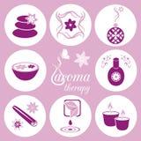 Icone di aromaterapia Fotografia Stock Libera da Diritti