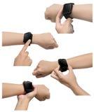Insieme delle immagini astute dell'orologio Immagini Stock