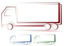 Insieme delle immagini del camion di trasporto Fotografia Stock Libera da Diritti