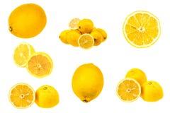 Insieme delle immagini fresche del limone Fotografia Stock Libera da Diritti