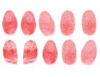 Insieme delle impronte digitali Fotografia Stock