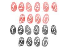 Insieme delle impronte digitali Fotografia Stock Libera da Diritti