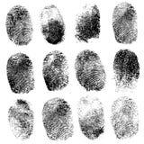 Insieme delle impronte digitali, illustrazione Immagini Stock