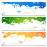 Insieme delle insegne colorate Fotografie Stock