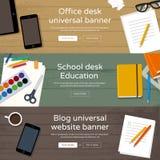Insieme delle insegne del sito Web di Home Page Fotografie Stock Libere da Diritti